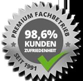 98% Kundenzufriedenheit