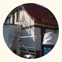 Mauerwerk ausgeblasen am Einfamilienhaus von Familie Grüne