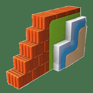 Aufbau einer Wand mit Hohlschicht