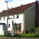 Dach und Fassadendämmung mittels Einblasdämmtechnik eines Zweifamilienhauses in 31655 Stadthagen
