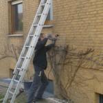 Einblasdämmung am Hohlmauerwerk eines Siedlungshauses in 30966 Hemmingen