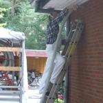 Erhebliche Verbesserung der Dämmwerte  durch Hohlwanddämmung trotz vorhandener Steinwollmatten