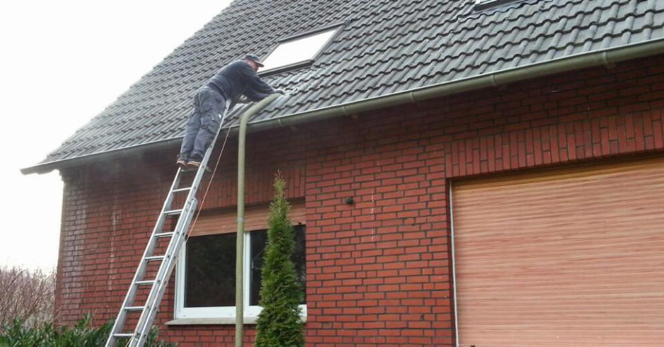 Wände dämmen am Altbau durch Ausblasen des zweischaligen Mauerwerks in Rehburg-Loccum