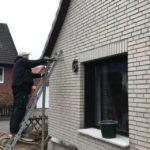 Hohlwandisolierung mit Einblasdämmung – Doppelte Hohlschicht am Klinkerhaus