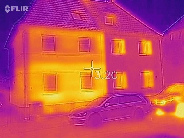 Thermografie Doppelhaus Einblasdaemmung